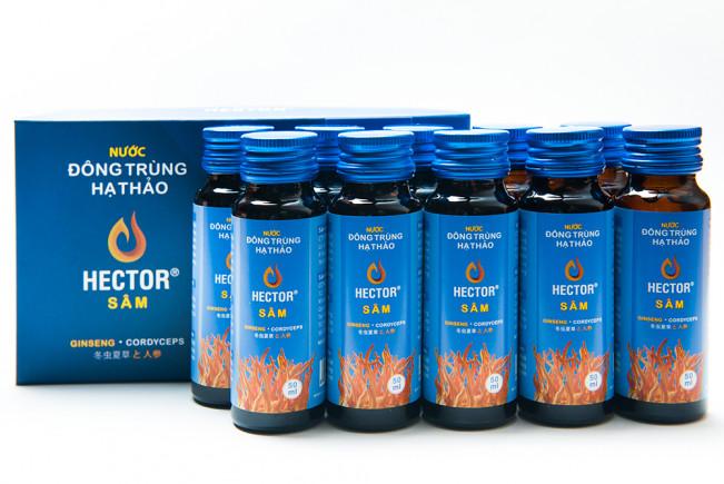 Hector Sâm Nước Uống Đông Trùng Hạ Thảo Hộp 10 Chai